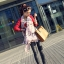 ผ้าพันคอชีฟอง ลายมารีรีนมอลโลสีชมพู ( รหัส P25 ) thumbnail 1
