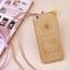 เคสไอโฟน 6Plus/6sPlus (TPU CASE) Hello Kitty พร้อมสายคล้องคอ สีทอง thumbnail 1