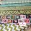 Set 6 ชิ้น : ผ้าคอตตอน 100% โทนสีเขียว 5 ลาย และผ้าแคนวาสลายตาราง แต่ละชิ้นขนาด 1/8 ม.(50x27.5ซม.) thumbnail 2