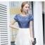 เดรสแฟชั่นเกาหลี สวยหวาน ด้วยเสื้อสียีนส์น่ารักๆ รับกับชายกระโปรงลายลูกไม้ เข้ากันได้ลงตัวสุดๆ thumbnail 8