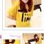 เสื้อยืดแฟชั่นเกาหลี พิมพ์ลายสกรีนด้านหน้าเสื้อ สวมใส่สบาย มีให้เลือกถึง 2 สี thumbnail 5