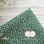 ผ้าคอตตอนไทย 100% 1/4ม.(50x55ซม.) พื้นสีเขียว ลายดอกแก้วสีขาว thumbnail 1