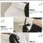 เสื้อเชิ้ตแขนยาวแฟชั่น แขนเสื้อบานนิดๆ แต่งด้วยโบว์สีดำตัดกับตัวเสื้อ ใส่ได้หลายโอกาส thumbnail 4
