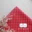 ผ้าคอตตอนลินิน 100% 1/4 เมตร พื้นสีแดง ลายจุดเล็กสีขาว thumbnail 2