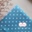 ผ้าคอตตอนลินิน 1/4ม.(50x55ซม.) พื้นสีฟ้าเข้ม ลายจุดสีขาว thumbnail 1