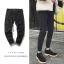 *Pre Order*กางเกงแฟชั่นชาย ผ้ายีนส์นิ่ม,ทรง Slim feet สีดำ/กรม size 28-34