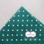 ผ้าคอตตอนลินิน 1/4ม.(50x55ซม.) พื้นสีเขียวเข้ม ลายจุดสีขาว thumbnail 2