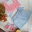 เซ็ทชุดสีพาสเทลแสนหวาน ขนาด 3-6 เดือน thumbnail 1