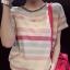 เสื้อแฟชั่นลายขวาง ขอแตกต่างด้วยสีสันแบบ colorful ด้วยสีอ่อนแบบพาสเทล มันช่างใสๆ สมวัยสาวๆ จริงๆ thumbnail 5