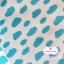 ผ้าคอตตอนไทย 100% 1/4 ม.(50x55ซม.) ลายก้อนเมฆ พื้นสีฟ้า thumbnail 1