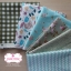 Set 6 ชิ้น: ผ้าคอตตอน100% 5 ลาย และผ้าแคนวาสลายตาราง โทนสีเขียว แต่ละชิ้นขนาด 27.5×50ซม. thumbnail 1