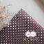 ผ้าคอตตอนลินิน 1/4ม.(50x55ซม.) สีน้ำตาลเข้ม ลายจุดเล็กสีขาว thumbnail 1
