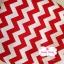 ผ้าคอตตอนไทย 100% 1/4 ม.(50x55ซม.)ลายทางแบบหยัก สีแดงท่าสลับสีขาว thumbnail 1
