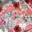 ผ้าคอตตอนลินิน 100% 1/4 เมตร(50x55cm.) โทนสีขาว ลายblossom thumbnail 1