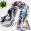 ผ้าพันคอผ้าPolyester+ผ้าไหม ลายเนเวอร์แลนด์สีดำฟ้า ( รหัส P101 ) thumbnail 1