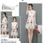 ชุดกี่เพ้าลายสวย พริ้วไหวแบบผ้าชีฟองเนื้อดี กับลายปักดอกกุหลาบสวยๆ thumbnail 4