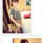 เสื้อแฟชั่นเกาหลี คลาสสิคกับเสื้อลายขวาง เพิ่มเสน่ห์ให้กับชุดด้วยเย็บคอและปกแบบตุ๊กตา thumbnail 3