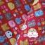 ผ้าคอตตอนไทย 100% 1/4ม. (50x55ซม.) พื้นสีแดง ลายตุ๊กตาน่ารัก thumbnail 2