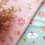 ผ้าคอตตอนไทย 100% 1/4 ม.(50x55ซม.) พื้นลายทางสีชมพู ลายคัพเค้ก thumbnail 2