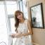 เดรสแฟชั่นเกาหลีทรงยาว พร้อมเข็มขัดในชุด กับลายดอกไม้สวยๆ thumbnail 42
