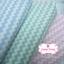 ผ้าคอตตอนไทย 100% 1/4ม.(50x55ซม.) ลายทางแบบหยัก สีชมพูพาสเทลสลับสีขาว thumbnail 2