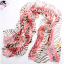 ผ้าพันคอผ้าPolyester+ผ้าไหม ลายม้าลายสีแดง ( รหัส P119 ) thumbnail 1