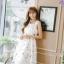 เดรสแฟชั่นเกาหลีทรงยาว พร้อมเข็มขัดในชุด กับลายดอกไม้สวยๆ thumbnail 36
