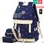 กระเป๋าเป้แฟชั่น ลายสวย มีช่องต่อ usb ที่กำลังฮิตในขณะนี้ thumbnail 1