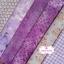 Set 6 ชิ้น : ผ้าคอตตอน 100% 6 ลาย โทนสีม่วง ชิ้นละ1/8 ม.(50x27.5ซม.) thumbnail 1