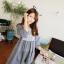 เดรสสั้นเกาหลีมาใหม่ โปร่ง ใส่สบาย น่ารักแบบสาวหวานสุดๆ thumbnail 12
