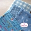 Set 4 ชิ้น : ผ้าคอตตอน100% โทนสีฟ้า 3 ลายและผ้าแคนวาส ลายตาราง แต่ละชิ้นขนาด1/8 ม.(50x27.5ซม.) thumbnail 2