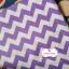 ผ้าคอตตอนไทย 100% 1/4 ม.(50x55ซม.) ลายทางหยักโทนสีขาวม่วง กว้าง1ซม. thumbnail 1