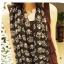 ผ้าพันคอชีฟอง ลายหัวกระโหลมงกุฏสีดำ ( รหัส P23 ) thumbnail 1