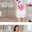 เสื้อแฟชั่นเกาหลี สกรีนลายสวยๆ แต่งแขนด้วยผ้าซีทรูลายโดดเด่น thumbnail 2