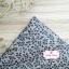 ผ้าคอตตอนไทย 100% 1/4 ม.(50x55ซม.) ลายใบไม้เล็ก โทนสีเทา thumbnail 1