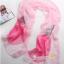 ผ้าพันคอผ้าไหม ลายญี่ปุ่นสีชมพู ( รหัส P87 ) thumbnail 1