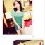เสื้อแฟชั่นเกาหลี สไตล์ทูโทน สวมใส่สบาย มาพร้อมกระเป๋าเสื้อด้านหน้า thumbnail 5