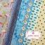 Set 6 ชิ้น : ผ้าคอตตอน 100% โทนสีฟ้า 5 ลาย และผ้าแคนวาส ลายจุด ชิ้นละ1/8 ม.(50x27.5ซม.) thumbnail 1