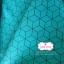 ผ้าคอตตอน 100% 1/4 ม.(50x55ซม.) พื้นสีเขียวฟ้า ลายสีดำ thumbnail 1