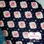 ผ้าคอตตอน 100% 1/4 ม.(50x55ซม.) พื้นสีกรมท่า ลายดอกกุหลาบ thumbnail 1