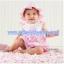 ชุดกระโปรงสาวน้อยสีชมพูลายมงกฎ (พร้อมกางเกงขาเว้าสีขาว) thumbnail 2