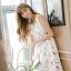เดรสแฟชั่นเกาหลีทรงยาว พร้อมเข็มขัดในชุด กับลายดอกไม้สวยๆ thumbnail 45