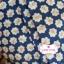 ผ้าคอตตอนไทย 100% 1/4 ม.(50x55ซม.) ลายดอกไม้ พื้นสีฟ้าเข้ม thumbnail 1
