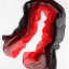 ผ้าพันคอผ้าไหม สีดำแดง ( รหัส P60 ) thumbnail 1