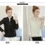 เสื้อแฟชั่นเกาหลี แขนยาว แต่งลายผ้าแบบริ้วๆ ดูหรูหรา คุ้มราคา thumbnail 10