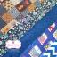 Set 5 ชิ้น : ผ้าคอตตอน 100% โทนสีน้ำเงิน 5 ลาย ชิ้นละ1/8 ม.(50x27.5ซม.) thumbnail 2