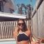 Bikini แบบคล้องคอ สีพื้นตัดขอบด้วยเส้นกำลังดี แบบยอดฮิตแบบสาวยุโรปใส่กัน thumbnail 8