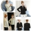 เสื้อแฟชั่นเกาหลี แขนยาว แต่งลายผ้าแบบริ้วๆ ดูหรูหรา คุ้มราคา thumbnail 1