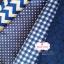 ผ้าคอตตอนไทย 100% 1/4 ม.(50x55ซม.) พื้นสีน้ำเงิน ลายจุดสีขาว thumbnail 6
