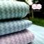 ผ้าคอตตอนไทย 100% 1/4ม.(50x55ซม.) ลายทางแบบหยัก สีชมพูพาสเทลสลับสีขาว thumbnail 3
